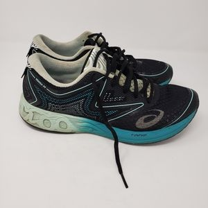 ASICS Teal and Black Sneakers